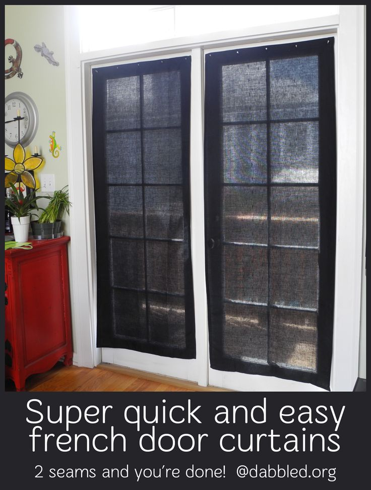 Have French Doors Want A Quick Covering Re Do Diy An