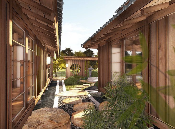 Prefab Japanese Pool House For Sale Backyard Pool Landscaping Outdoor Pool Decor Pool Houses