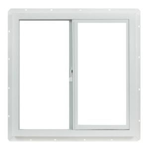 Chicken coop window: TAFCO WINDOWS Slider Vinyl Windows, 24 in. x 24 in., White, with Single Glass with Screen-VUS2424OP at The Home Depot