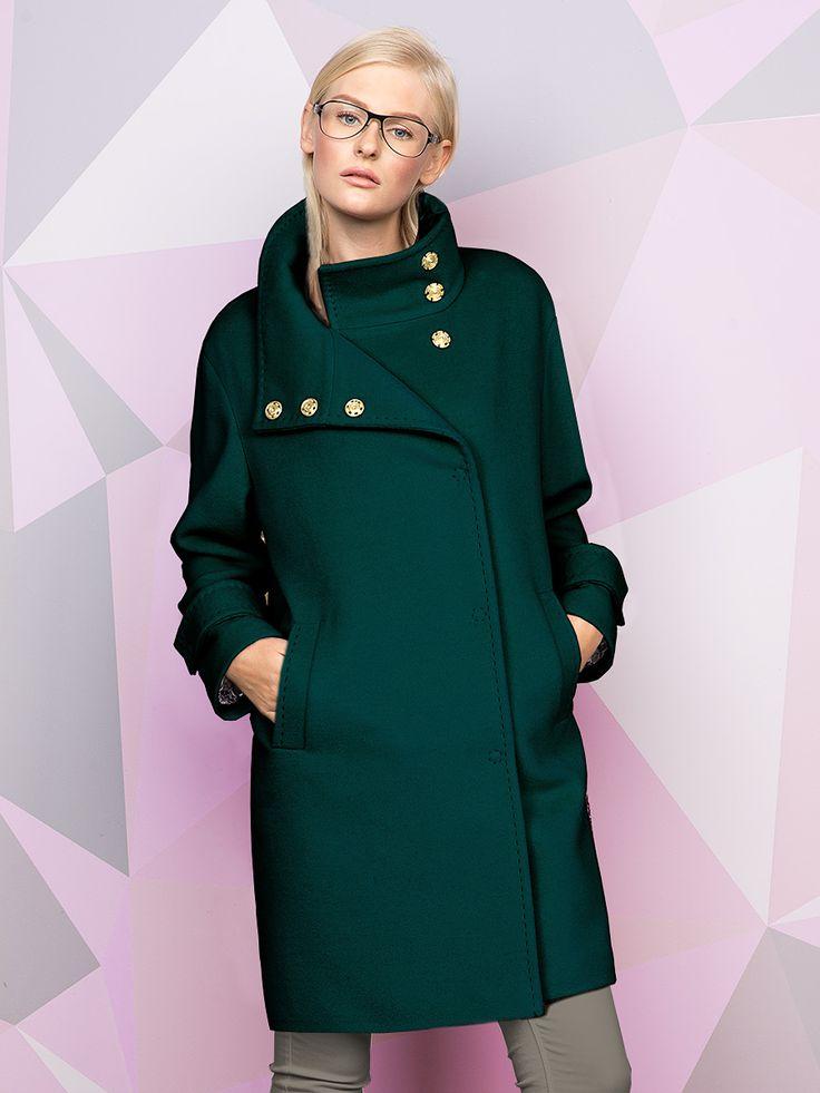 Пальто женское м. 10139742 ворс цв. изумрудный