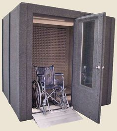Nice Any WhisperRoom Basic Or Soundproof Sound Booth With A Wall Or Larger Can  Be Configured With A Wide Access Door Upgrade.