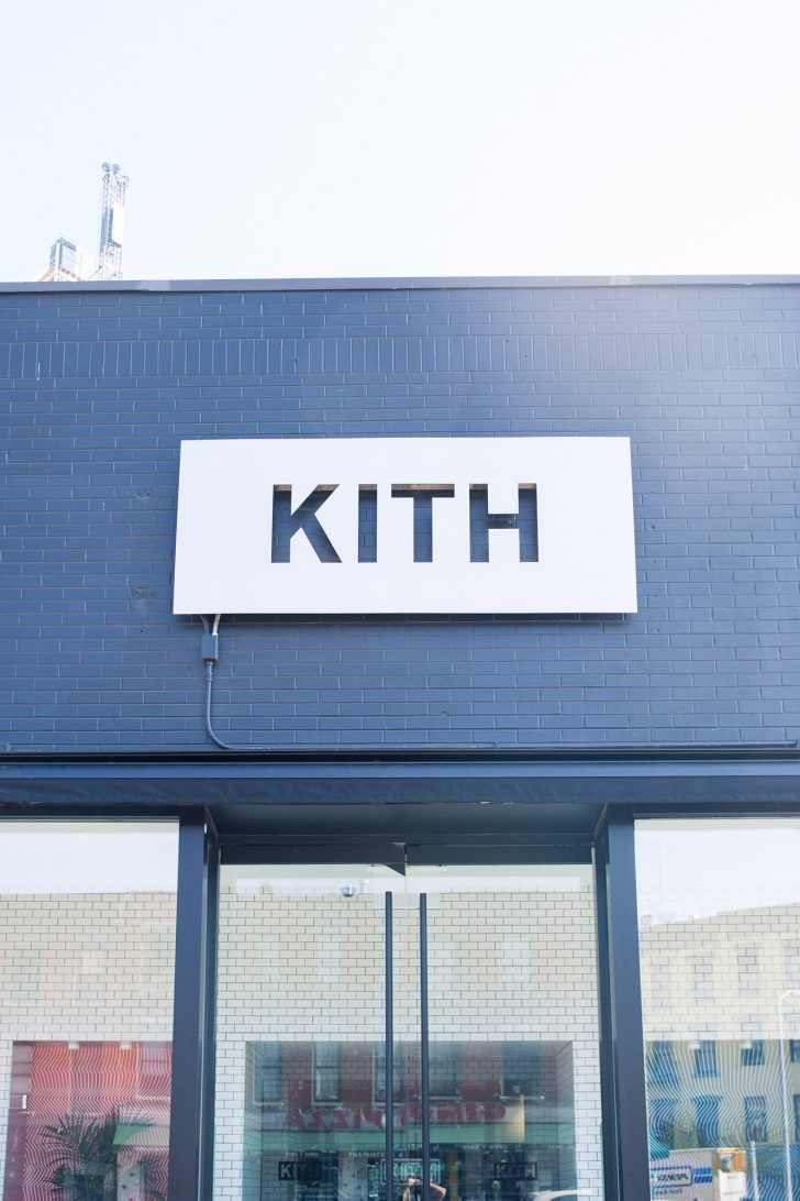 Snarkitecture's Founders On Designing Kith's Brooklyn Location: Kith Exterior Logo | coveteur.com