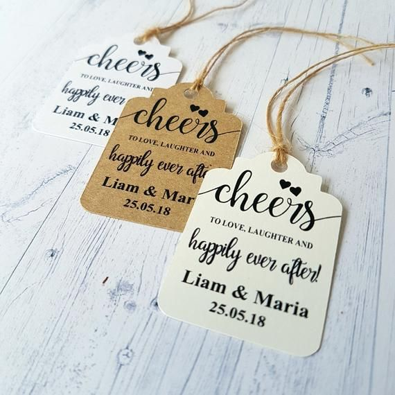 Cheers To Love And Laughter And Happily Ever After Tags
