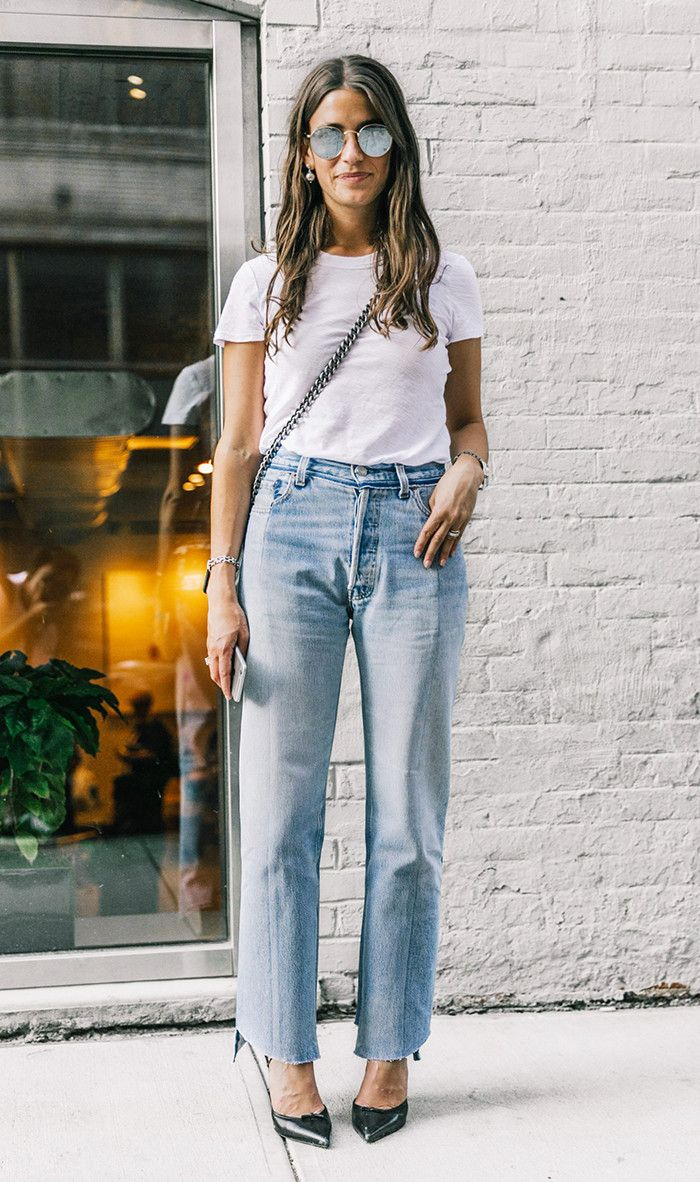 White t shirt fashion tips - No One Is Wearing Mom Jeans Like This Anymore Love Clothingjeans For Womenwhite T Shirtsmom