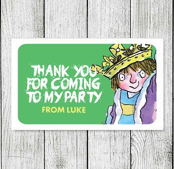 21 x Horrid Henry Personalised Thank You Birthday Stickers Party Goody Bag Label