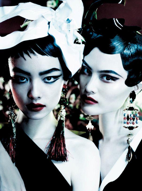 Sui He, Sung Hee Kim, Ji Hye Park & Fei Fei Sun for Vogue UK March 2013 by Mario Testino