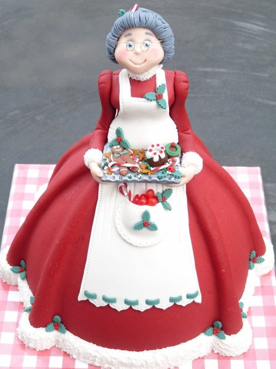 Mrs Claus Porcelana fria polymer clay