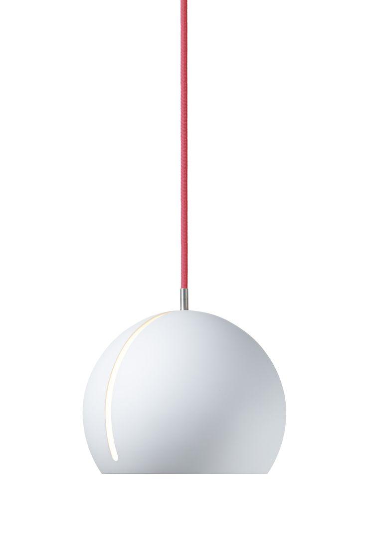 Nyta »Tilt Globe« white, rose cord