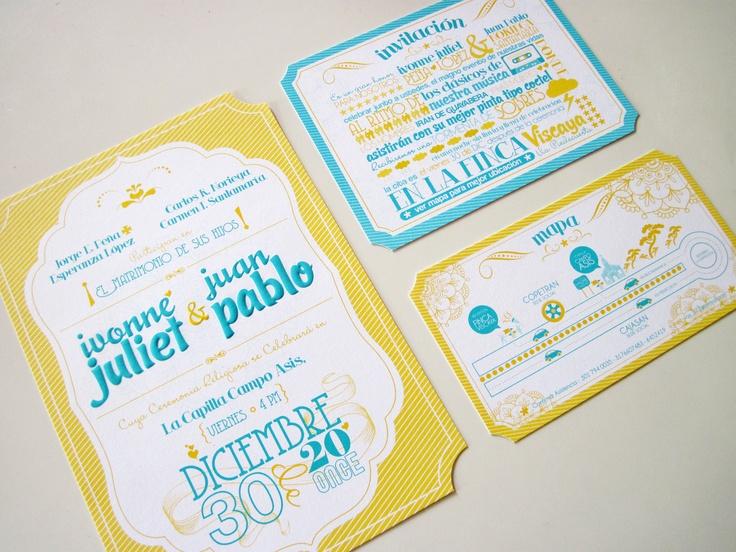 Tarjeta de Participación, Invitación y Mapa