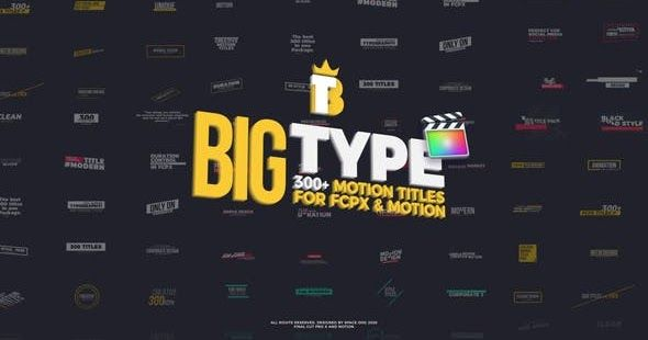 Pin On Videohive Big Type 300 Titles For Fcpx 27096182