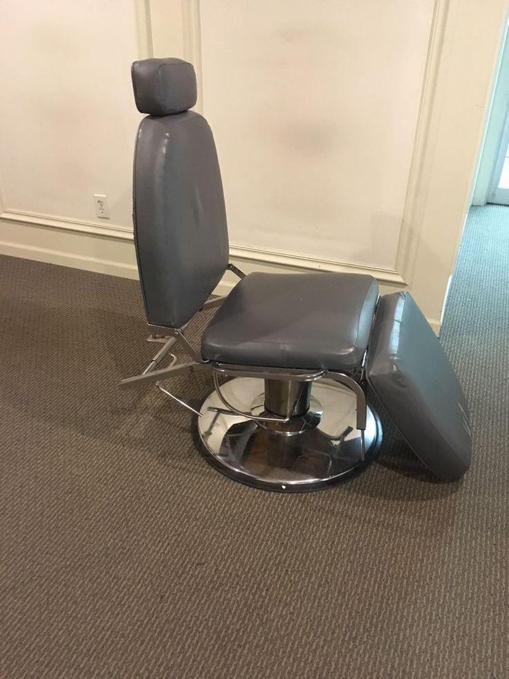 Used Grey  Vinyl  Hydraulic Tattoo Make Up Lashes Artist Chair  | eBay