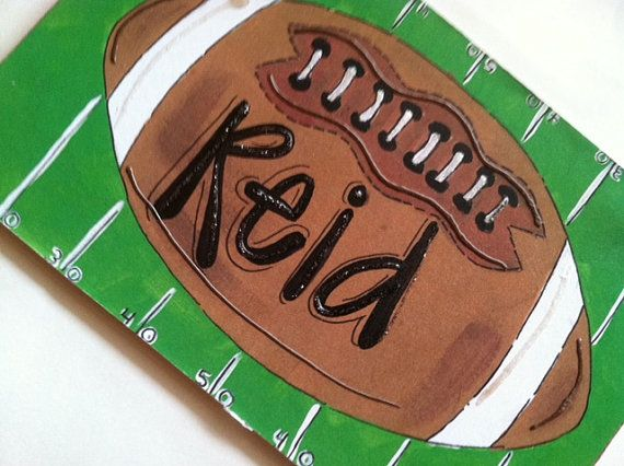 Football personalized name sign- gift idea for boys