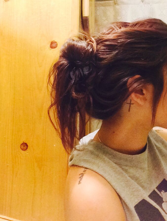 New tattoo behind the ear(: