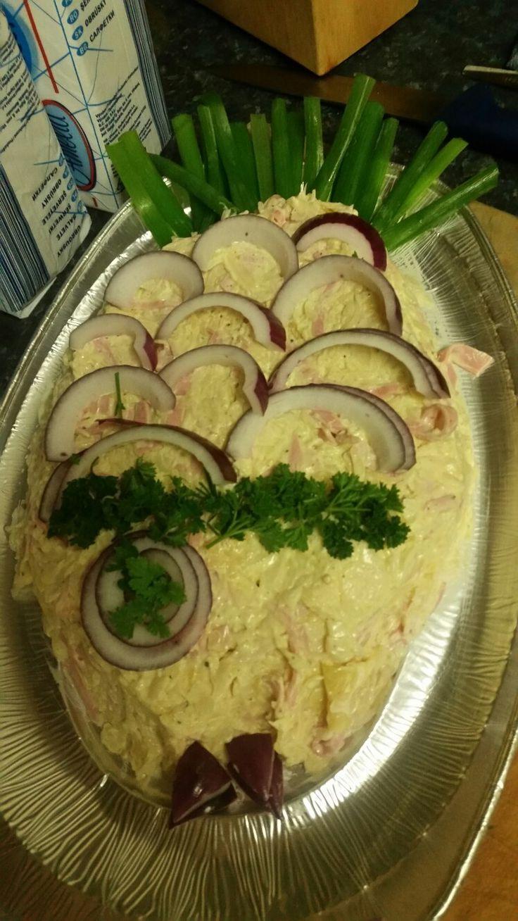 Servírování salatu