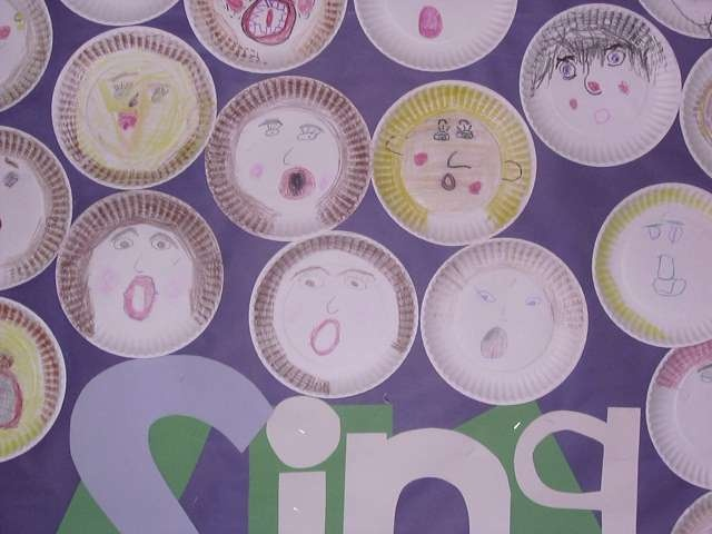 paper plate faces showing good singing expression (raised eyebrows north and south mouth & Best 10 Paper plate faces ideas on Pinterest   Paper plates Paper ...