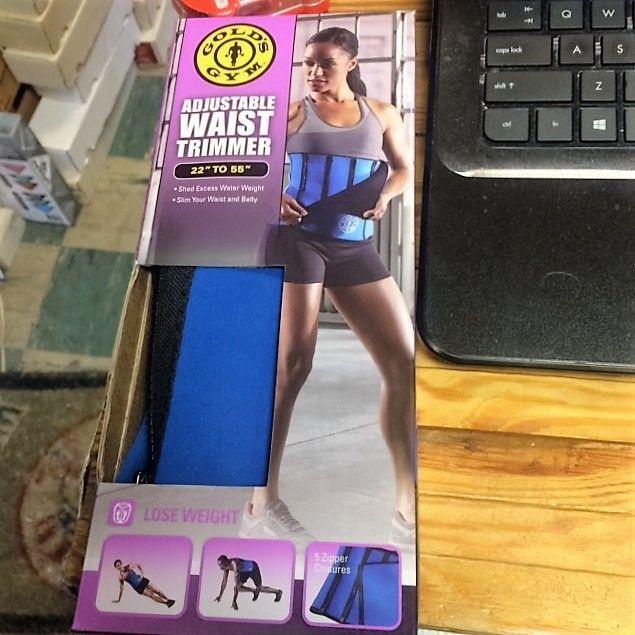 gold gym waist trimmer belt instructions