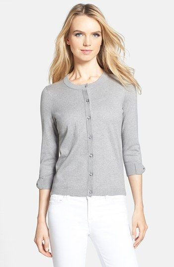 kate spade new york 'somerset' cotton blend cardigan | Nordstrom