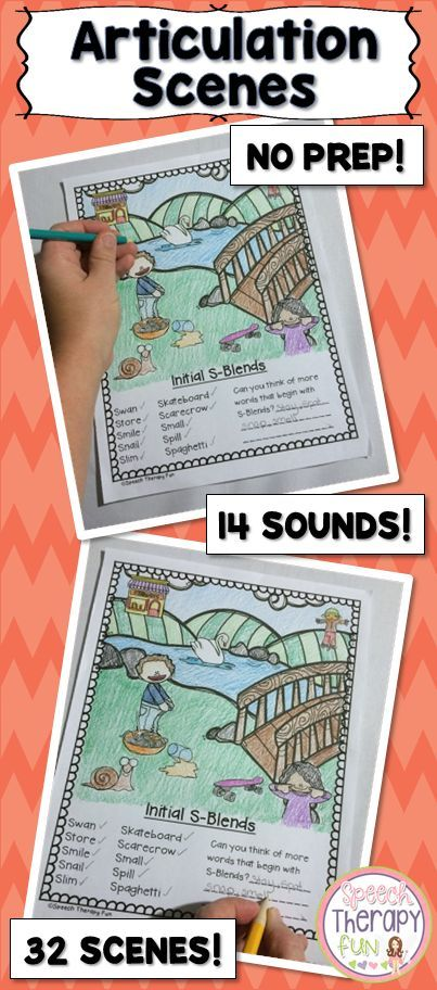 Address 14 different sounds with this pack of articulation scenes!  Each scene contains 6-10 words and pictures.