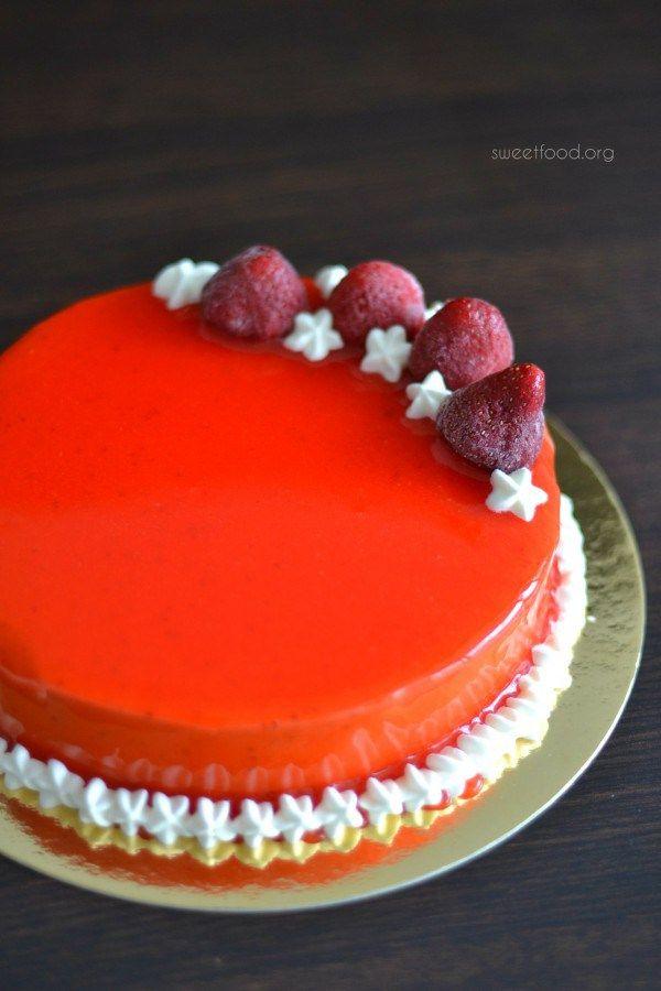 Gateaux sables nappage fraise for Miroir aux fraises