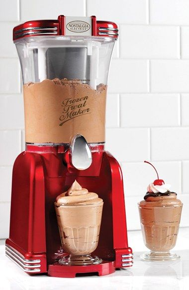 Free shipping and returns on Nostalgia Electrics 'Retro Series' Frozen Treat Maker at Nordstrom.com. From delicious frozen drinks to soft-serve ice cream, this frozen treat maker aims to satisfy your sweet tooth while adding an unmistakable touch of retro style to your kitchen décor.
