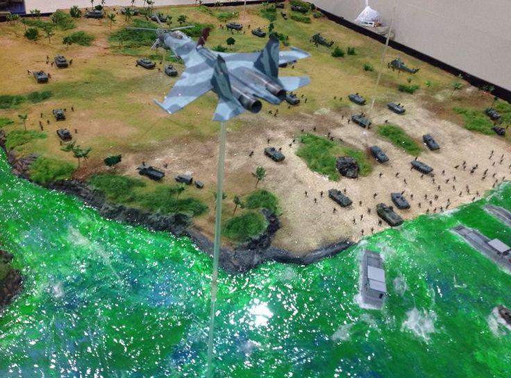 1/72. Diorama TNI AU Sukhoi di Kementrian Pertahanan Indonesia