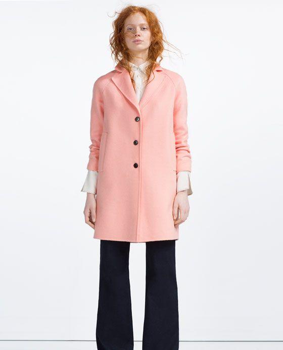 Image 1 of HANDMADE LONG COAT from Zara