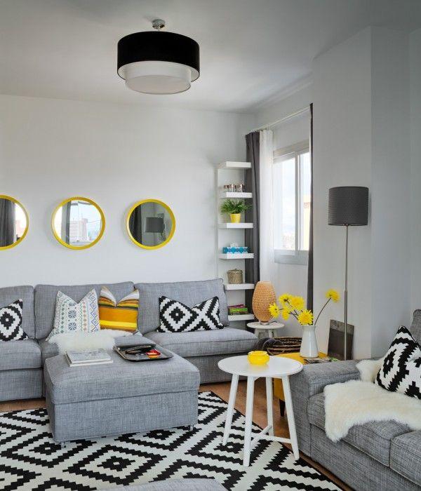 Accente vesele de galben, albastru și roșu într-un apartament din Malaga | Jurnal de design interior