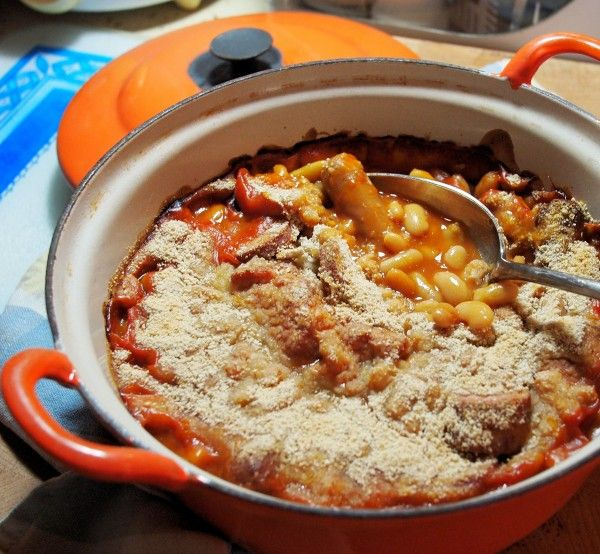Cheat's French Style Cassoulet - Sausage and Bean Casserole in the Slow Cooker or Le Creuset