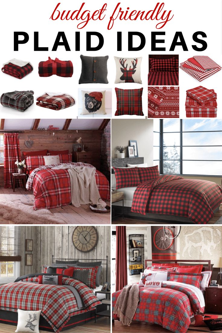 Plaid Ideas - Bedroom This collection of plaid bedding will create a warm and cozy space to snuggle down this winter!