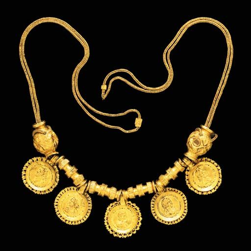 Necklace, gold, Roman, ca. 3rd century AD