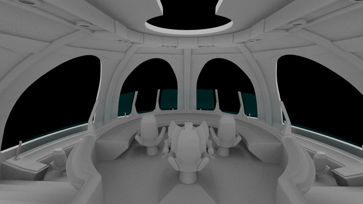 GreekX CG Freelancer: Spaceship Bridge