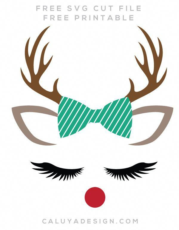 Download Reindeer Faces Free SVG, PNG, DXF, EPS Download by C ...