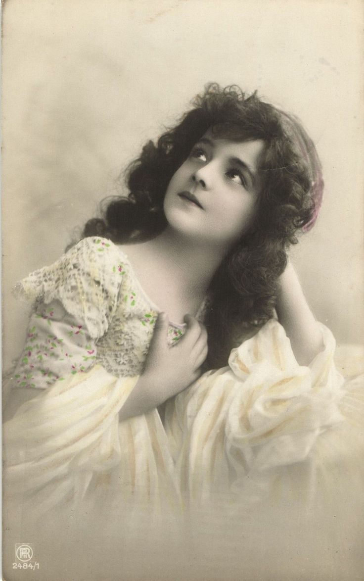 Edwardian beauty girl grete reinwald long hair beautiful photo postcard eba - Mobilier vintage enfant ...