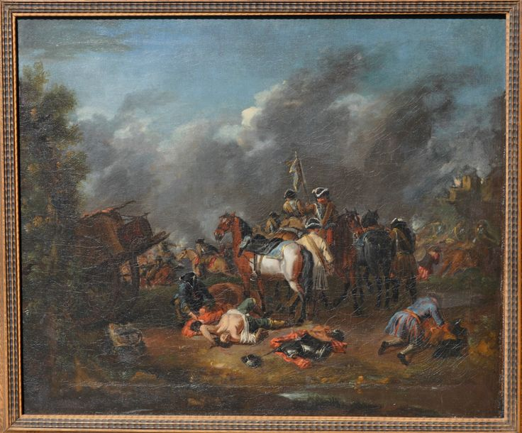 Pieter van Bloemens A battle scene from the Northern War, Swedish troops beating their enemies