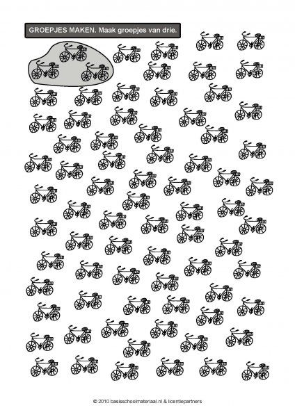 speelwerkje - maak groepjes van 3! | verkeer - vervoer thema