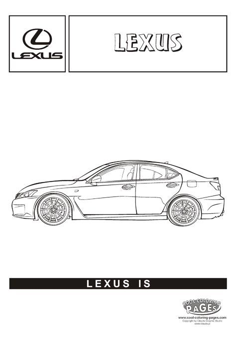 Lexus IS - Cars coloring pages | Coloring patterns/Sayings