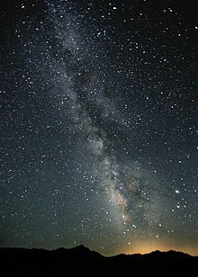 The Milky Way - visible in West Texas skies. (though not quite this visible!)