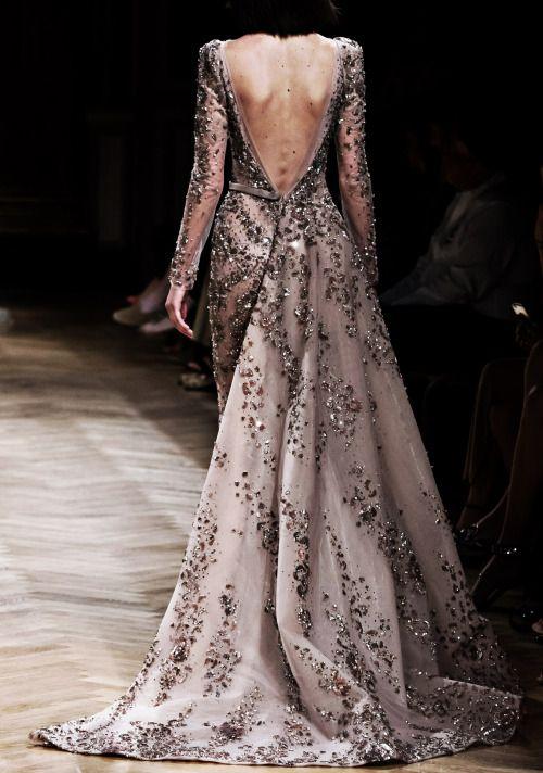 "runwayandbeauty: ""Back Detail: Ziad Nakad Haute Couture Fall/Winter 2016-17. """