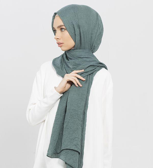 Washed Teal Modal Hijab - £12.90 : Inayah, Islamic Clothing & Fashion, Abayas, Jilbabs, Hijabs, Jalabiyas & Hijab Pins
