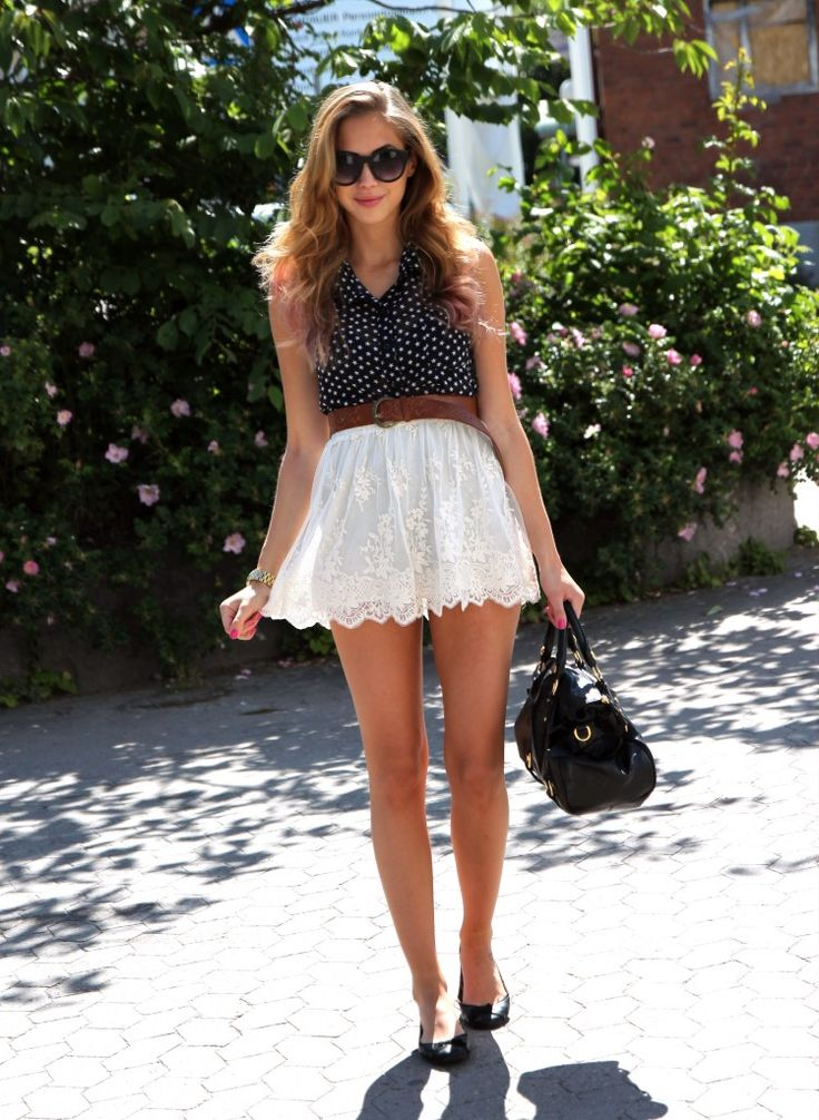 Best 25+ White Lace Skirt Ideas On Pinterest