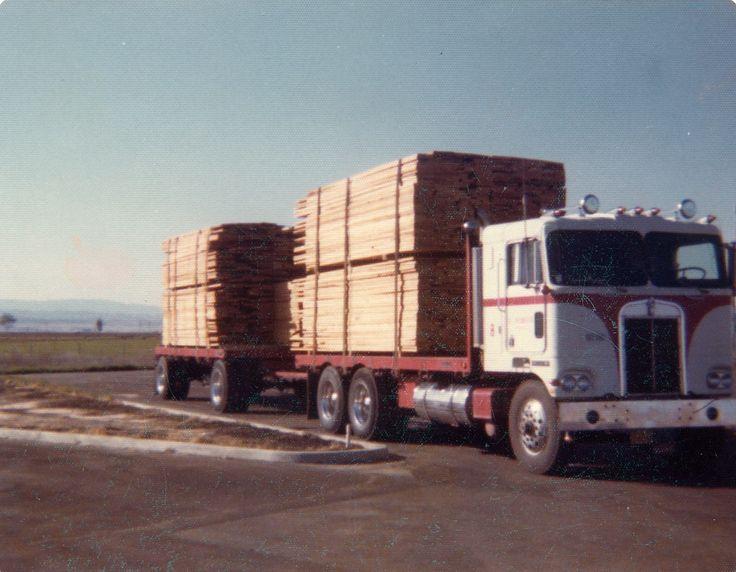 Peterbilt Lumber Truck and Trailer | Good o'l days of trucking ...