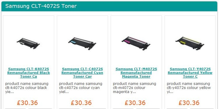 Samsung CLP-320, Samsung CLP-325, Samsung CLX-3180, Samsung CLX-3185 Toner Cartridges from only £30.36 each! http://www.sprint-ink.co.uk/toner-cartridges/samsung-toner-cartridges/samsung-toner-by-cartridge-no-/samsung-clt-4072s-toner/cat_3344.html