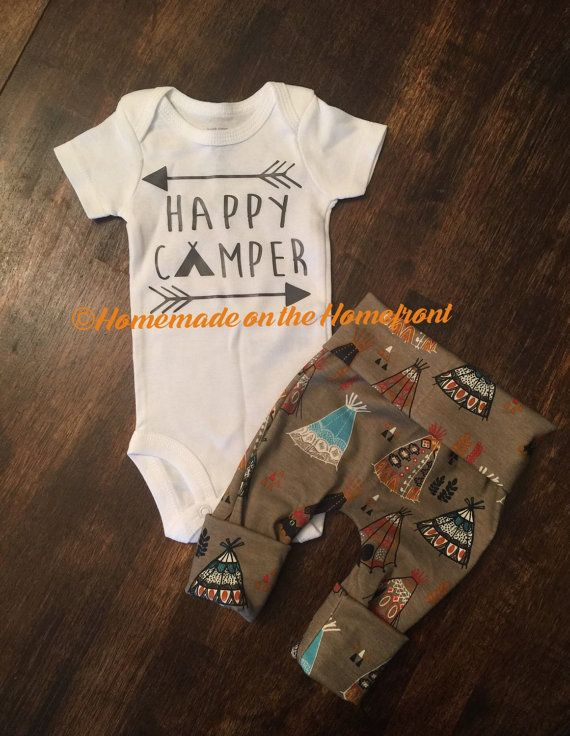 Hey, I found this really awesome Etsy listing at https://www.etsy.com/listing/271198243/happy-camper-newborn-boys-coming-home