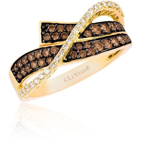 Le Vian Brown Vanilla Diamonds174 And Chocolate Diamonds174 Ring In... ($1,605) ❤ liked on Polyvore featuring jewelry, rings, brown, 14 karat gold jewelry, enhancer ring, 14k ring, chocolate rings and brown ring