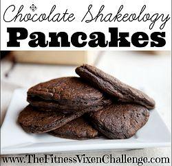 Chocolate Shakeology Pancake Recipe! Super yummy and super easy to make!