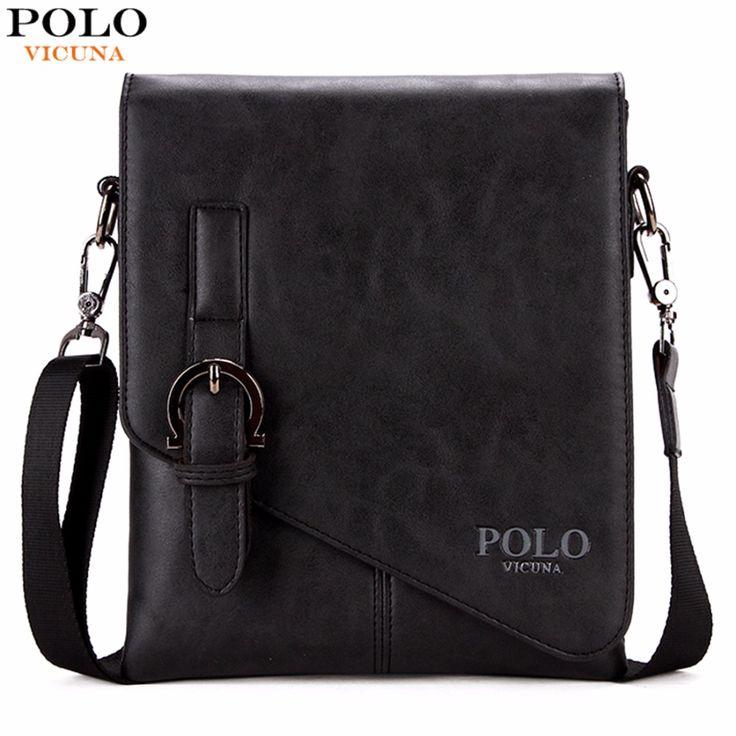 VICUNA POLO Burglarproof Buckle Small Mens Crossbody Bag Personality Oblique Flap Cool Men Messenger Bag Sling Shoulder Bag Male #Affiliate