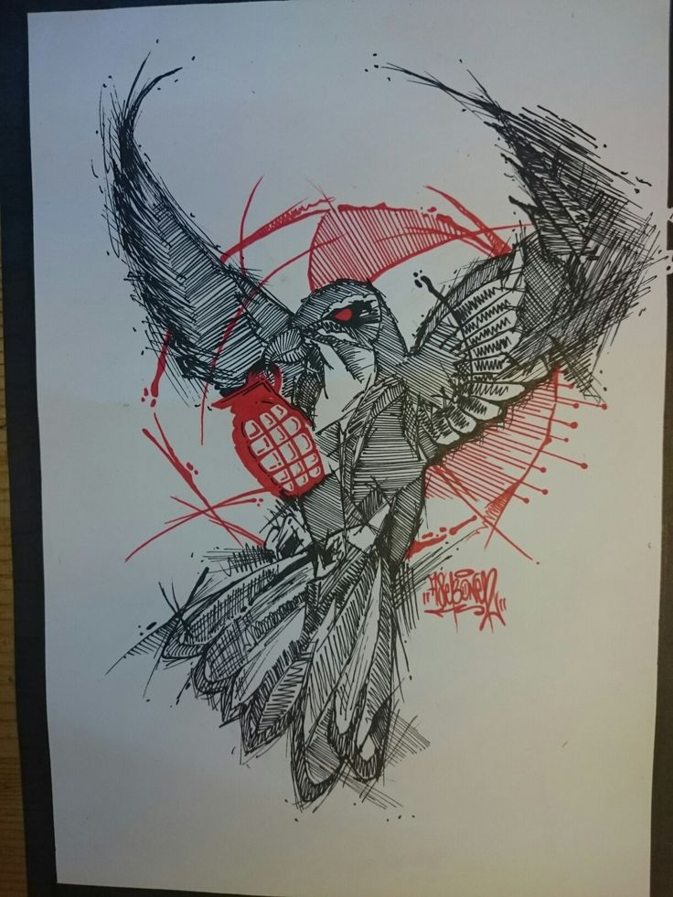 One of my tattoo projects. AsebOner! #tattoo #sketch #dove #grenade #peace #war #black #red