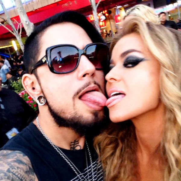 Carmen Electra, Ex Dave Navarro Touch Tongues at Rock Event: Rocker Claims He's Not Back Together With His Ex-Wife