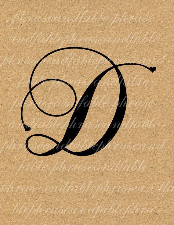 Lettera D Cuore 275 Digital Download Alfabeto iniziale Nome Glyph carattere font Tipografia clipart on Etsy, €1,54