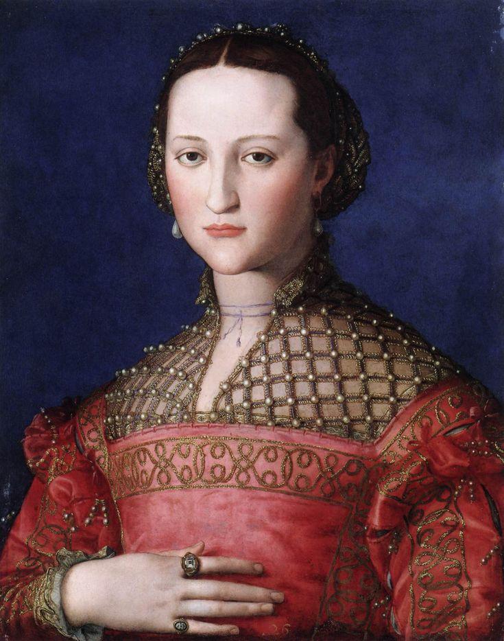 BRONZINO, AgnoloEleonora di Toledo1543Oil on wood, 59 x 46cmNárodní Galerie, Prague